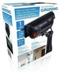 Zwarte Grundig Camera dummy - beveiliging - draadloos - buiten - LED