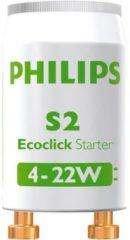 Philips Lighting TL-buis starter Starter S2 4-22W 2BL 230 V 4 tot 22 W