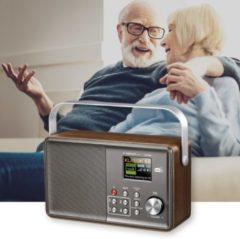 Zilveren Albrecht audio Albrecht DR 860 Senior Digitaleradio,DAB+ en FM radio
