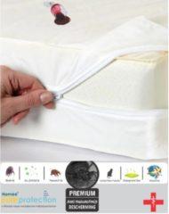 Witte Homéé®pure'protection Homéé® pure'protection Waterdicht Matrasbeschermerhoes PU 120x200+20/22cm nanotech-stof 100% bedwerende | Polyester Jersey