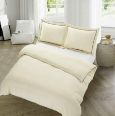 Witte Hotel&Home Dekbedovertrek London - Creme - 1-persoons (140 x 200/220 cm + 1 kussensloop) - Polyester - Creme - Hotel Home
