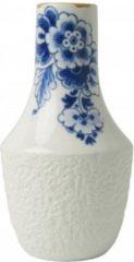 Zwarte Heinen Delfts Blauw bloesem vaas 1