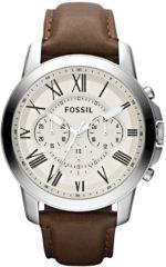 Bruine Fossil FS4735 Analoog Heren Quartz horloge