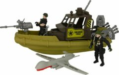 Jollity Works JollyFigures - Leger - Leger Speelset - Soldaat - Combat Force - Boot - Drone - 2 Soldaten - Large