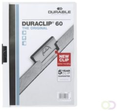 Durable Duraclip 60 stofklepmap Transparant, Wit PVC