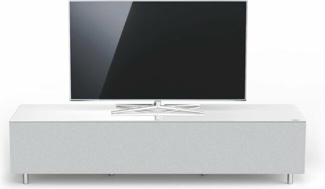 Afbeelding van Spectral Just-Racks JRL1654T-SNG | tv-meubel voor soundbar in hoogglans wit - 1.65m breed