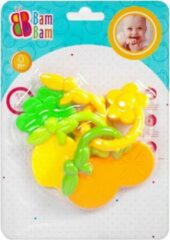 BamBam Bam Bam - Rammelaar - Bijtring - Fruit - Babyspeelgoed - Bijtspeelgoed