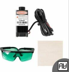 Zwarte Creality 3D Creality Laser Engraving Starter Kit by AlphaHouse - laser graveren kit met bescherming