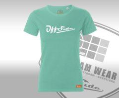 Groene Classic .. T-Shirt Regular fit Mint w/print - Maat XL - Off Side - incl. Gratis rugzak