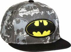 Grijze DC Comics Batman Volwassenen Snapback Hip Hop Cap Pet Zwart