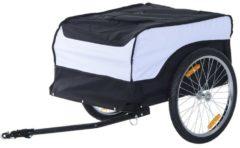 Transportanhänger fürs Fahrrad HOMCOM weiß, schwarz