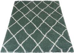 Veercarpets Vloerkleed Jeffie - 160 x 230 cm - groen - Hoogpolig - Berber