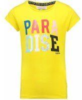 Vingino! Meisjes Shirt Korte Mouw - Maat 116 - Geel - Katoen/elasthan