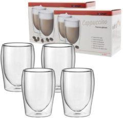 4X Scanpart Cappuccino Thermo glazen 30 cl