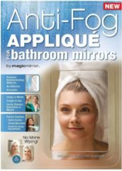 Witte Antifog Magic Mirror Anti-fog Applique Anti aanslag spiegel sticker