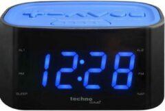 TECHNOLINE WT465 KLOK / WEKKERRADIO, blauw-zwart - met duidelijk VOELBARE TOETSEN