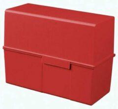 Rode Bruna Kaartenbak Han breed A5 kunststof rood