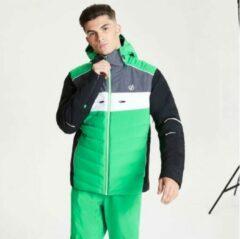 Dare 2b Dare2B Cipher waterdichte, geïsoleerde ski-jas met capuchon voor heren, ademende outdoorjas, levendig groen zwart