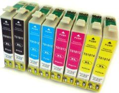 Gele Goedkoopprinten ACTIE: Epson T1816 inkt cartridge Multipack 8 st. (18XL) - Huismerk set