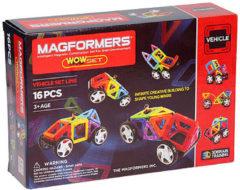 Clics Magformers Wow Set - 16 Onderdelen - Magnetisch speelgoed