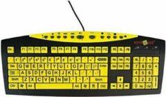 Keys U See Keys-U-See grootletter toetsenbord - QUERTY - Geel / Zwart - Duidelijk contrast - Multimedia Toetsen