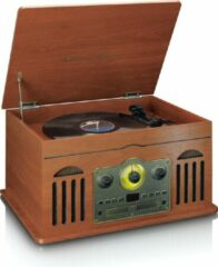 Classic Phono TCD-2600 - Platenspeler met Bluetooth, Radio, Cd en Cassette speler - walnoot