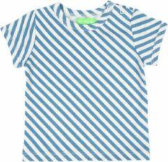 Blauwe Lily Balou Baby Tshirt Kas Diagonal Stripes - 68