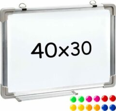 Witte TecTake - Magnetisch bord Whiteboard 40 x 30 cm - 400813