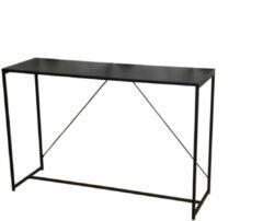 Gebor Halmeubel – Wandmeubel – Strak design – Simplistisch Ontwerp – Metaal – Zwart – 120x39x79cm.