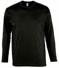 Zwarte T-Shirt Lange Mouw Sols MONARCH COLORS MEN