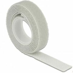 DeLOCK Klittenband rol 13mm / grijs (1 meter)