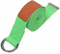#DoYourYoga - Yogariem - »Amita« - 100% polyester met stabiele metalen ringsluiting - 260 x 3,8 cm - Lichtgroen