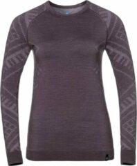 Paarse Odlo - Warm Shirt LS Crew Neck - Dames - maat M