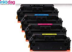 Cyane Inktdag toner cartridge voor HP 410X toner, HP CF410X, CF411X, CF412X, CF413X zwart + 3 kleuren (4 stucks) voor HP Color LaserJet M377 dw, M452 dn, M452 dw, M452 nw, M477 fdn, M477 fdw, M477 fnw,