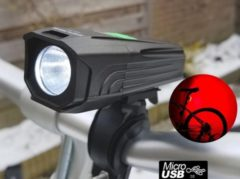 Donkergrijze ZEUSS XF-13 setje ultieme fietsverlichting, USB oplaadbaar, Power-indicator, waterdicht, dropproof, 450 Lumen, lichtgewicht zaklamp