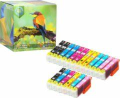Cyane Ink Hero - 18 Pack - Inktcartridge / Alternatief voor de Epson Expression Photo 24XL T2431 T2432 T2433 T2434 T2435 T2436 XP-55 XP-750 XP-760 XP-850 XP-860 XP-950 XP-960 XP-55 XP-750 XP-760 XP-850 XP-860 XP-950 XP-960 Inks