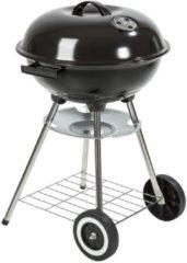 Zwarte Tectake Kogelbarbecue barbeque bbq Ø 41,5 cm verzinkt staal 401665