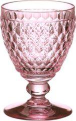 Roze VILLEROY & BOCH Boston coloured Witte wijnglas rose - 12 cm - 0,23 l