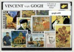 Transparante KLOMP G.T.P Vincent van Gogh - postzegelpakket cadeau met 50 verschillende postzegels