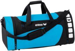 Lichtblauwe Erima Club 5 (M) Sporttas - Curaçao/Zwart - Maat M