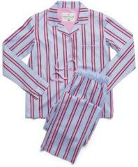 Rosa Webpyjama, geknöpft rayville pink-maroon