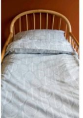Grijze Witlof for kids ledikant dekbedovertrek 100x135 cm Beleaf warm grey