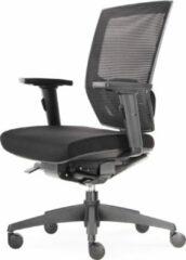 Zwarte BenS 807-Synchro-3, Onze luxe ergonomische bureaustoel ( ook geschikt voor langere personen ) met vele instelmogelijkheden, zitdiepte, lendesteun, 3D armlegger en met een Donati mechaniek. Voldoet aan EN1335 & ARBO normen