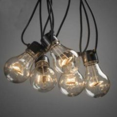 Konstsmide 2396 - Feestverlichting koppelbaar tot 40m - startsnoer 10 lamps transp 80 LED - 1000 cm - 24V - voor buiten - extra warmwit