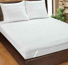 Homéé® Plateau Matrasbeschermer - matrasoplegger - eenpersoons XL 90x220 +30 cm - wit 
