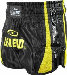 Gele Legend Sports Kickboks Broekje Black & Yellow S