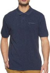 Blauwe Calvin Klein CK Basic Polo CK Basic Polo Heren Poloshirt Maat S