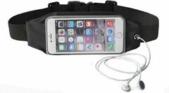Zwarte AA Commerce Sport Heupband - Hardloopband - Sportband - Hardloop Riem Met Smartphone Houder - Medium