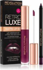 Makeup Revolution Retro Luxe Metallic Lip Kit - Royal