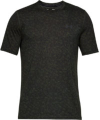 Groene Under Armour Threadborne Print sportshirt (korte mouwen) - Hardloopshirts (korte mouwen)